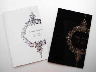 結婚式 招待状 手作り用紙キット ブリス(ホワイト・ブラック)