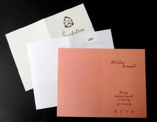 招待状手作りキット用 印刷中紙(各種)