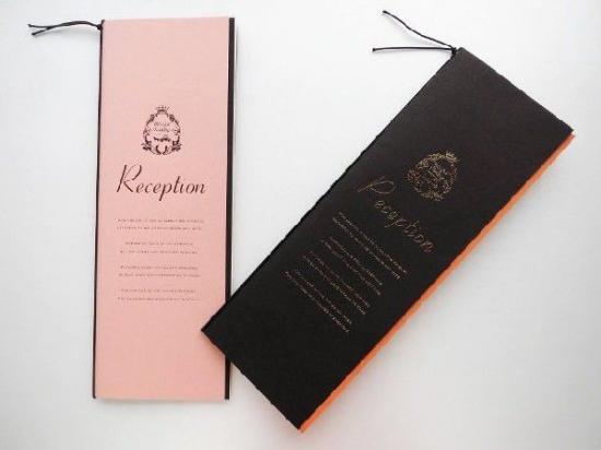 結婚披露宴 席次表 手作り用紙キット ポケット(ブラウン・ピンク)