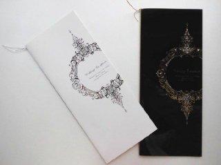 結婚披露宴 席次表 手作り用紙キット ブリス(ホワイト・ブラック)