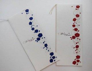 結婚披露宴 席次表 手作り用紙キット ノーブルローズ(ブルー・レッド)