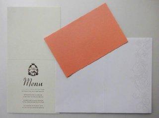 結婚披露宴 メニュー表手作りキット用 印刷中紙(各種)