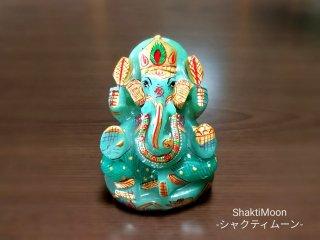【1点もの!ガネーシャ・アベンチュリン】天然石彫刻置物・スタチュー・インドの神様・商売繁盛・学問の神様・パワーストーン