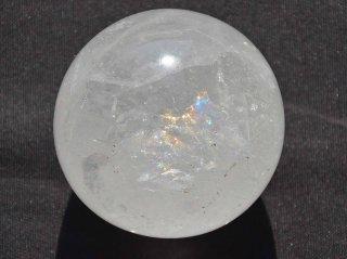 天然石丸玉水晶レインボー入り01/クリスタル