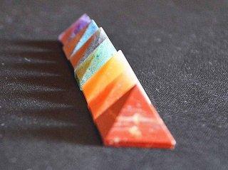 7チャクラピラミッドストーンセット(チャクラシンボル付き)/天然石
