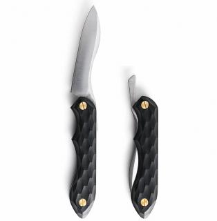 折畳式料理ナイフ 名栗ブラック
