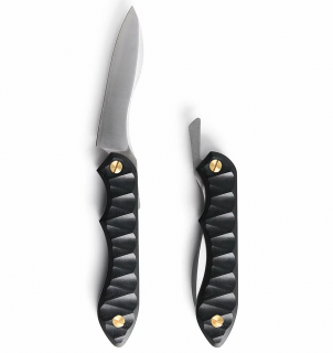 折畳式料理ナイフ リップルブラック