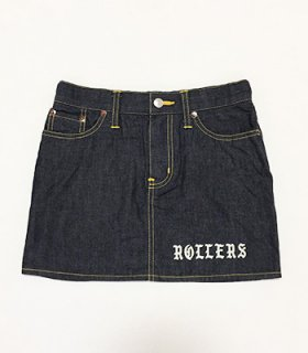 <img class='new_mark_img1' src='https://img.shop-pro.jp/img/new/icons41.gif' style='border:none;display:inline;margin:0px;padding:0px;width:auto;' />ROLLERS 8ozDENIM MINI SKIRT