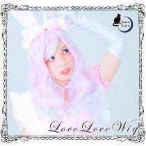 【即納】グラデーションウィッグ ピンク ホワイト ロング ゆめかわ ロリータ 耐熱 LocoLoco