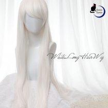 ウィッグ ロング ホワイト 白髪 創作 コスプレ ウィッグ ゆめかわ ロリータ 耐熱 ハロウィン 仮装 送料無料 LocoLoco
