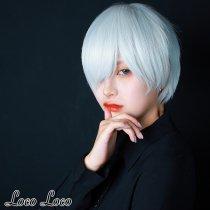 【即納】ウィッグ プラチナ ブロンド ショート 白髪 クール ゆめかわ ロリータ 耐熱  LocoLoco