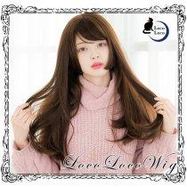 【即納】ウィッグ ロング ブラウン 茶髪 姫カット ゆめかわ ロリータ 耐熱 LocoLoco