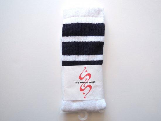 SKATERSOCKS スケーターソックス 19inch Mid Calf Socks ハイソックス NAVY
