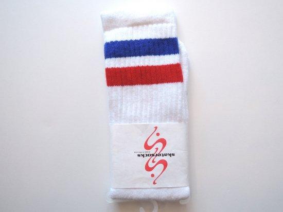 SKATERSOCKS スケーターソックス 19inch Mid Calf Socks ハイソックス BLxRED