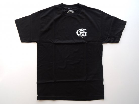 Greenspan's  グリーンスパンズ Logo Designs front and Back T shirt  S/S Tシャツ BLACK
