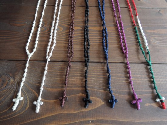 MEXICAN  Rosary ロザリオ 編み紐ロザリオ