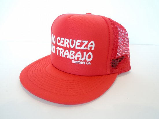 GUNTHERS ガンターズ No Ceberza No Trabajo Trucker Hat メッシュキャップ RED