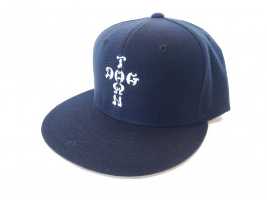 DOGTOWN ドッグタウン  CROSS LETTERS SNAPBACK NAVY