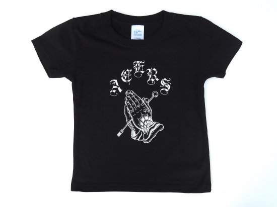ACERS INC. エーサーズ  PRAYING HANDS BABY-KIDS T-SHIRT キッズ ベビー Tシャツ BLACK