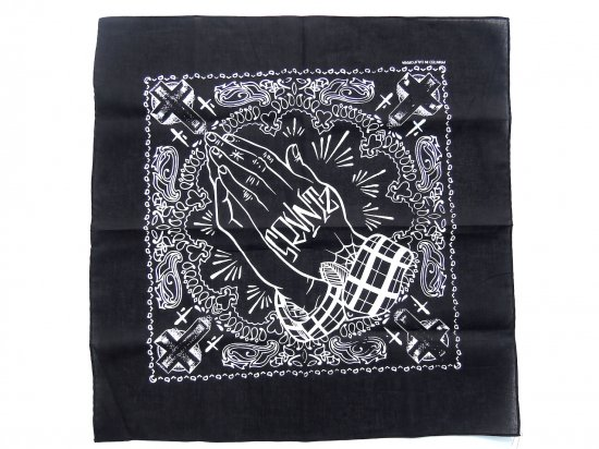 SRVNTZ サーヴァンツ Praying Hands EL FAMOUSO Bandana Black