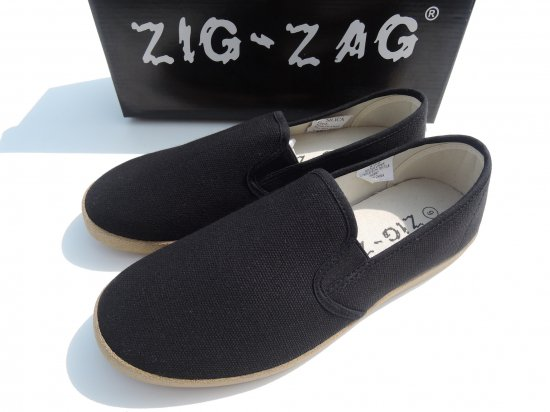 <img class='new_mark_img1' src='//img.shop-pro.jp/img/new/icons53.gif' style='border:none;display:inline;margin:0px;padding:0px;width:auto;' />ZIG ZAG  Winos Shoes Slip On スリッポン #7206  Black ブラック