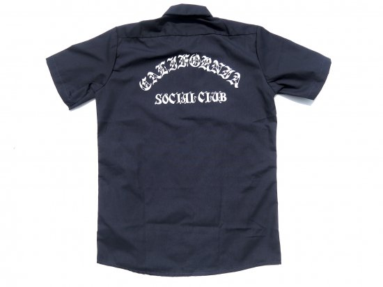 ACERS INC. エーサーズ  DICKIES LS535 California Social Club ワークシャツ NAVY  ネイビー