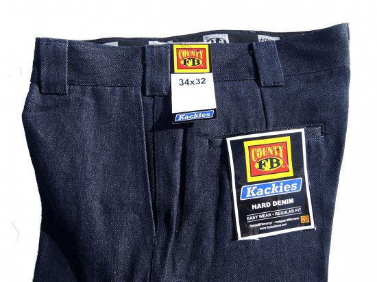 <img class='new_mark_img1' src='https://img.shop-pro.jp/img/new/icons53.gif' style='border:none;display:inline;margin:0px;padding:0px;width:auto;' />FB County Men's Hard Denim Pants Indigo ハードデニム インディゴ