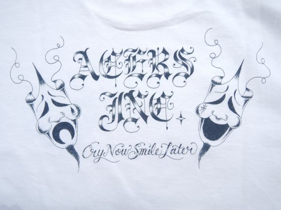 ACERS INC. エーサーズ  Cry now Smile later  S/S Tシャツ White ホワイト