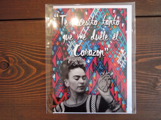ESPACIO1839 エスパシオ Original オリジナル FRIDA KAHLO  Greeting Card