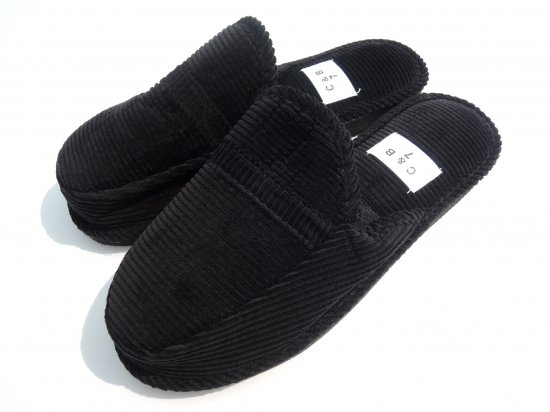 C&B SPORTS HOUSE SHOES SLIPPER  ハウスシューズ スリッパ BLACK