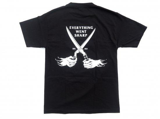 SHANE'S BARBER SHOP シェインズバーバーショップ  Flag Tee BLK ブラック
