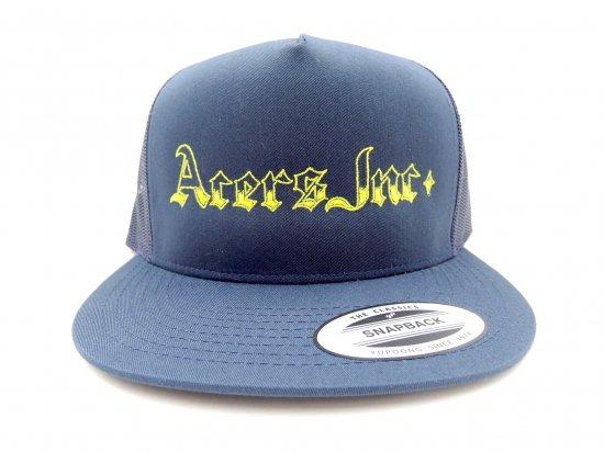 ACERS INC. エーサーズ  MAGAZINE Trucker Hat / Mesh Cap メッシュキャップ NAVY ネイビー