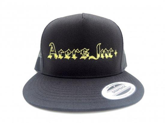 ACERS INC. エーサーズ  MAGAZINE Trucker Hat / Mesh Cap メッシュキャップ BLACK ブラック