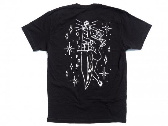 CITY FOG シティフォグ Pin Up  S/S T-shirts Tシャツ BLACK ブラック