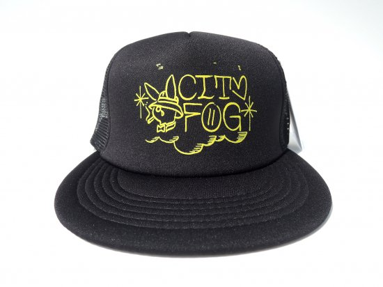CITY FOG シティフォグ Bunny Trucker Hat メッシュキャップ BLACK ブラック