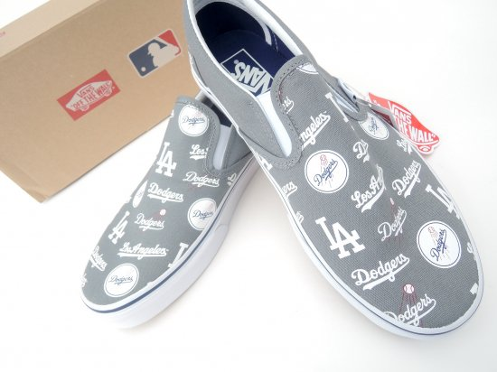 VANS ヴァンズ MLB SLIP-ON LA DODGERS GRAY