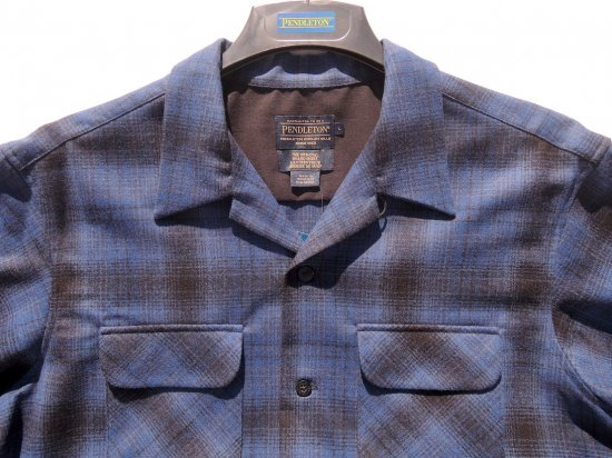 PENDLETON ペンドルトン Board Shirts   BRIGHT BLUE/BLACK OMBRE