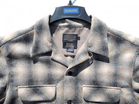 PENDLETON ペンドルトン Board Shirts  OXFORD GREY/TAN OMBRE