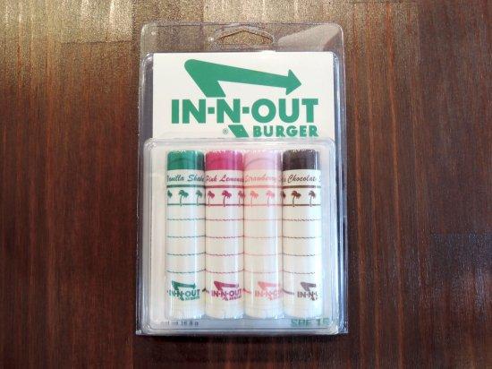 IN-N-OUT BURGER インナウト  LIP STICK 4フレーバー4本セット