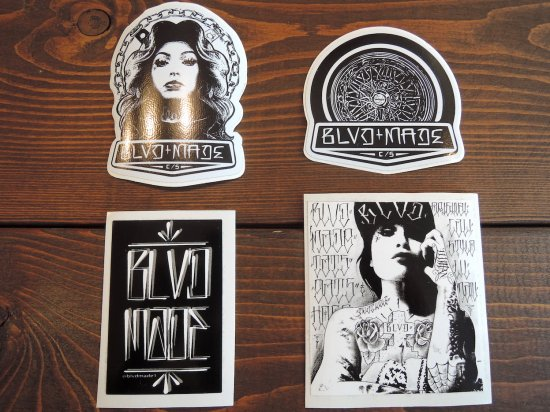 BLVD MADE ブールバードメイド Original Sticker 4 SET