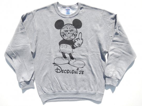 ESPACIO1839 エスパシオ Original オリジナル Decolonize  Sweatshirts Light Gray ライトグレー