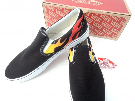 VANS ヴァンズ Flame CLASSIC SLIP-ON スリッポン US10.5