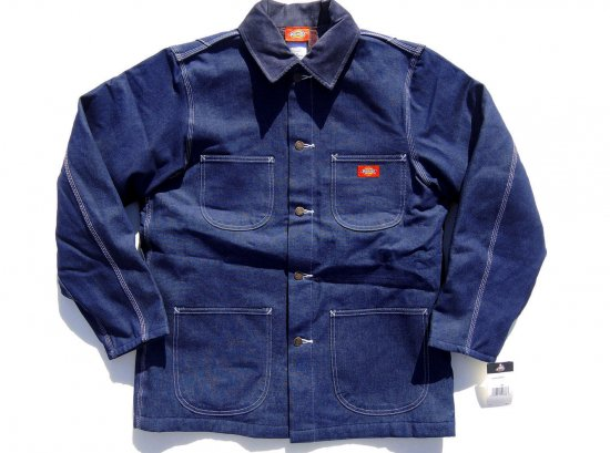 Dickies ディッキーズ USA #3494 Denim Blanket Lined Chore Coat Indigo Blue インディゴブルー