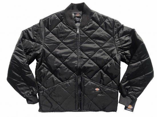 Dickies ディッキーズ USA  #61242 Diamond Quilted Nylon Jacket ブラック