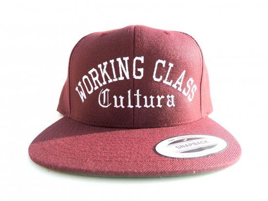 Working Class Cultura ワーキングクラスカルチュラ SNAPBACK スナップバック MAROON