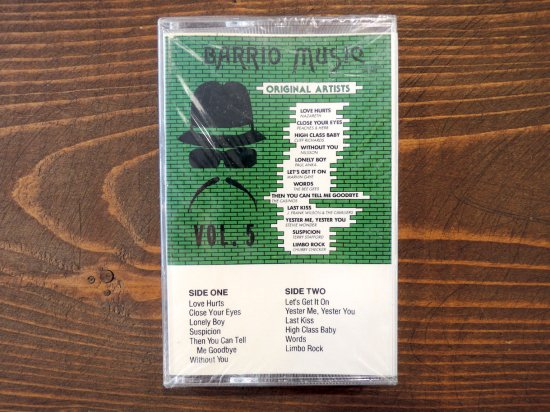 BARRIO MUSIC VOL.5  TAPE CASSETTE STEREO