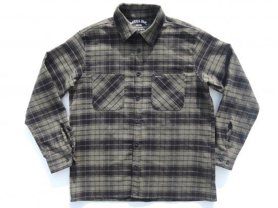 ACERS INC. エーサーズ   OG  Flannel Shirts フランネルシャツ KHAKI カーキ