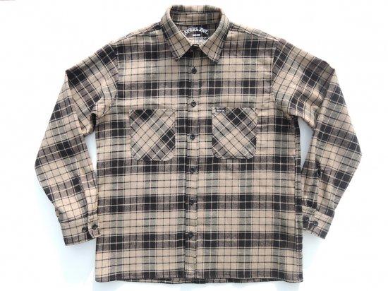 ACERS INC. エーサーズ   OG  Flannel Shirts フランネルシャツ BEIGE ベージュ