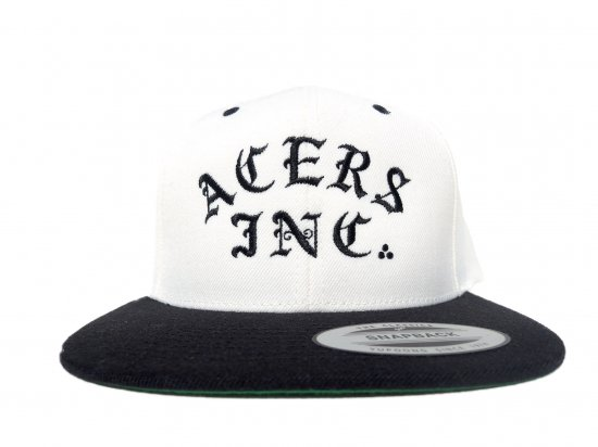 ACERS INC. エーサーズ   3Dots logo SNAPBACK CAP Natural/Black