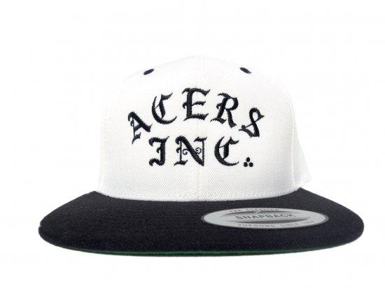 ACERS INC. エーサーズ   3Dots logo SNAPBACK CAP Natural/Black